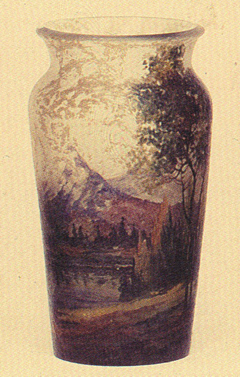 4210 – Handel Vase with Mountain, Lake, and Forest
