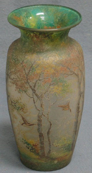 4217 – Handel Vase with Ducks and Trees