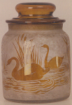 4236 - Handel Jar with Yellow Swans
