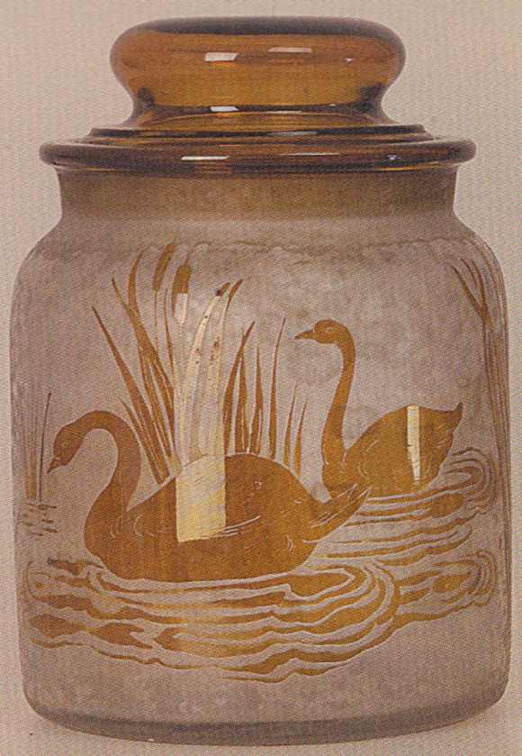 4236 – Handel Jar with Yellow Swans