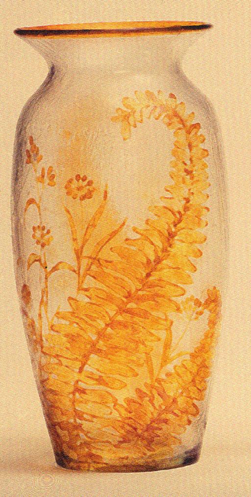 4237 – Handel Vase with Yellow Ferns