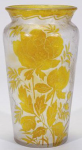4242 - Handel Vase with Blooming Yellow Roses