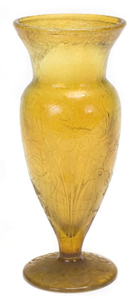 4258 – Handel Vase with Yellow Glass