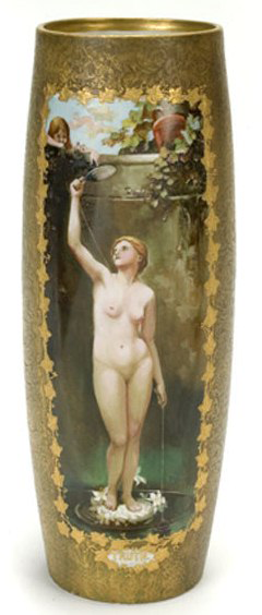 Not Numbered – Handel Ware Vase with Nude Woman Scene