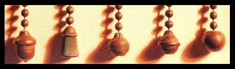 Handel Lamp Light Pulls Acorns and Balls